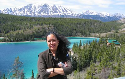Lynn at Emerald Lake in the Yukon Territory, Canada